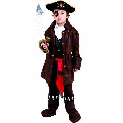 Dress up America Caribbean Boy Pirate Costume Set (M) by Dress Up America