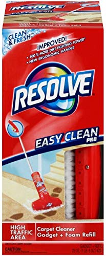 (Resolve Easy Clean Pro Carpet Cleaner Gadget + Foam Spray Refill,)