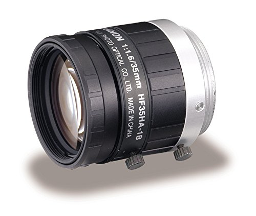 "Fujinon HF35HA-1B 2/3"" 35mm F1.6-F22 Fixed Focal Lens for 1.5MP Cameras, C-Mount, Manual Iris, Machine Vision Applications"