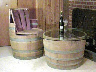 Amazoncom Wine Barrel Coffee table base only lacquer finished