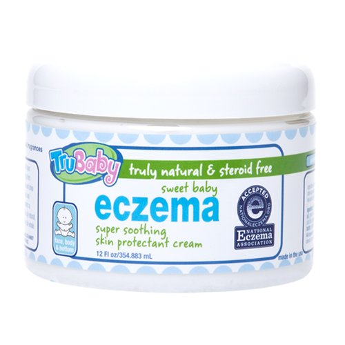 TruBaby Sweet Baby Eczema Cream - Soothing and Healing Relief Therapy for Sensitive Skin, Unscented, 12 oz