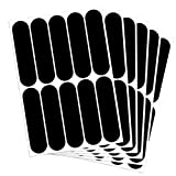 B REFLECTIVE, (6 Pack) 10 retro reflective stickers kit, Night visibility safety, Universal adhesive for Bike/Stroller/Buggy/Helmet/Motorcycle/Scooter/Toys, 7 x 1,8 cm, Black