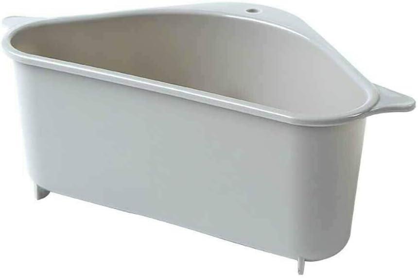 Beige Tdybk Organizzatore di Stoccaggio del Sapone Spugna Multifunzionale del Ripiano di Scarico del Filtro-Triangolare da Cucina da 2 Pezzi