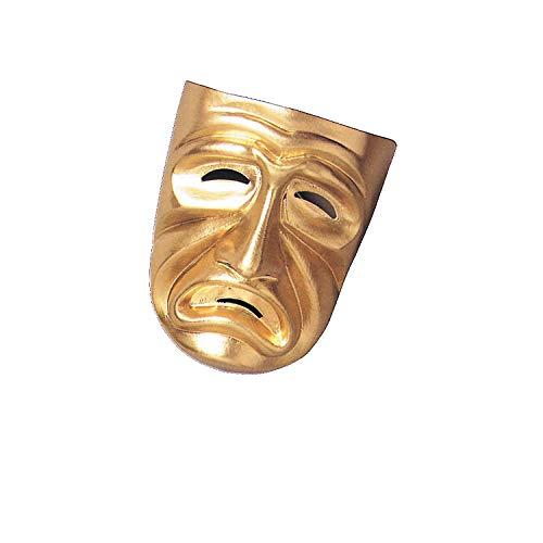 Fun Express Gold Tragedy Mask - Halloween Costume -