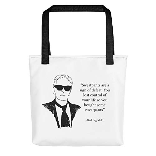01c2ba5d750a Large Utility Tote Bag with Inspirational Coco ... On Sale! sweatpants,  Karl Lagerfeld Quote, Karl Lagerfeld, fake chanel, chanel bag, vintage