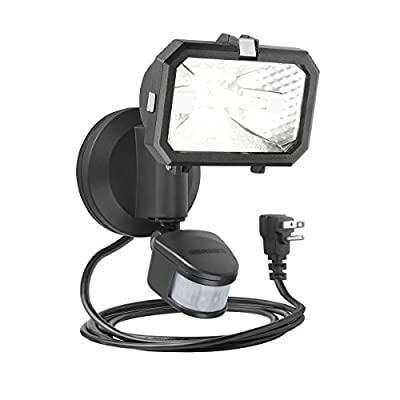 Brinks 7162G Single Head 100W Halogen Plug-In 180-Degree Motion Light