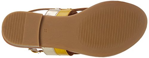 Inuovo 7295, Chanclas para Mujer Gelb (Yellow-Gold)