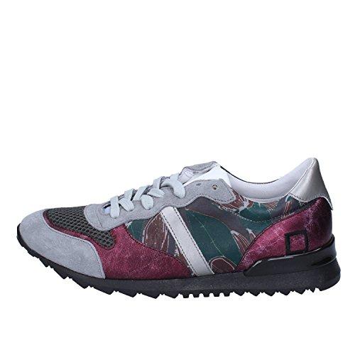 D.a.t.e. Date Sneakers Damen 37 EU Grau Leder Textil Wildleder