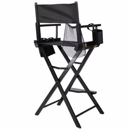 Makeup Artist Directors Chair Professional Wood Light Weight Foldable Black