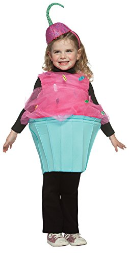 UHC Girl's Sweet Eats Cupcake Outfit Comical Theme Fancy Dress Toddler Costume, Toddler (3-4T)