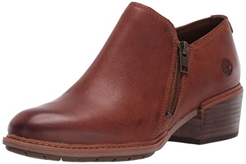 (Timberland Women's Sutherlin Bay Shootie Ankle Boot, Brown Full Grain, 9 Medium US)