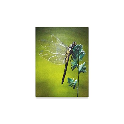 Dragonfly Canvas (Hot Sale Dragonfly Oil Painting Home Decor Canvas Prints- 12x16 Inch(One Side))
