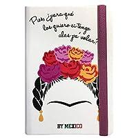 By Mexico Libreta Rayada modelo Floreada 80 hojas