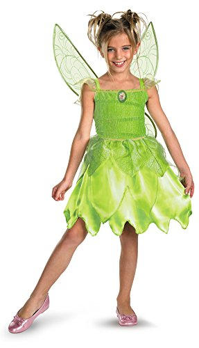[Disguise Girls Disney Fairies Tink and The Fairy Rescue Classic Costume, Large/10-12] (Tinkerbell Fairy Costumes For Women)
