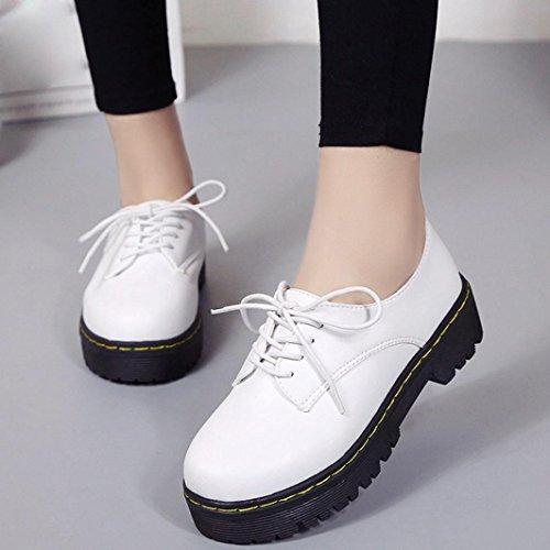Zapatos interiores, Amlaiworld Vintage Martin Botas Blanco