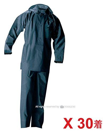 L トオケミ(TOHKEMI) B00G20EV0C ネイビー) 作業用 PVCスーツ(#160 L (いずれも同じサイズ) 30着セット (L)