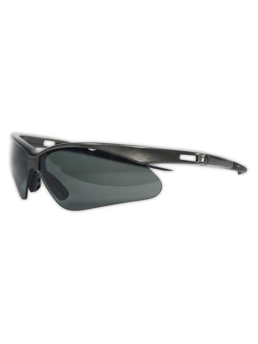 Jackson Safety V30 Nemesis Polarized Safety Glasses (28635), Polarized Smoke Lenses, Gunmetal Frame by Jackson Safety