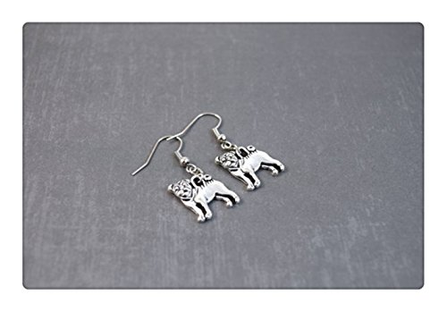 Pug-Earrings-Dog-Earrings-Pug-Dog-Lover-Gift-Animal-Jewelry-Pug-Earrings-Dangle-Earrings-Pet-Earrings