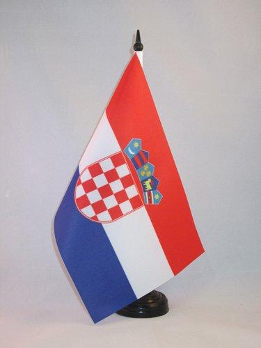 AZ FLAG Bandiera da Tavolo Croazia 21x14cm - Piccola BANDIERINA CROATA 14 x 21 cm