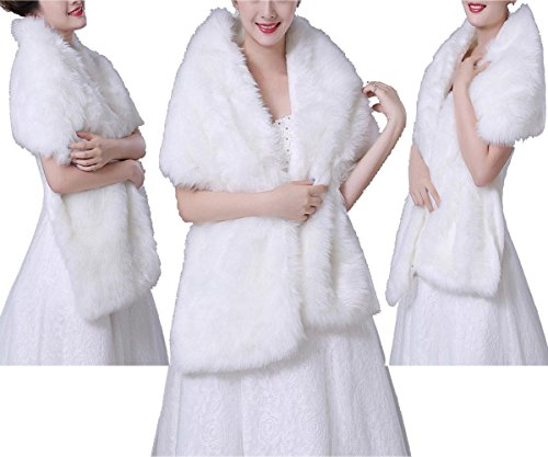 Shawl Collar Shrug (Women Faux Fox Fur Outwear for Autumn and Winter New Style Women's Fur Shawl Wrap)