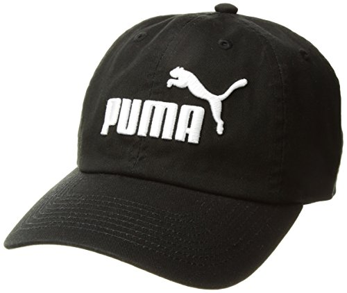 PUMA Women's Evercat #1 Adjustable Cap, Black/White, OS Puma Black Hat