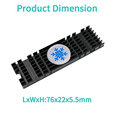 Laptop Memory Cooling Fin NVMe M.2 2280 SSD Nanometer Heat Conduction Silicone Pad Heatsinks Aluminum Alloy Radiator by Mustpoint