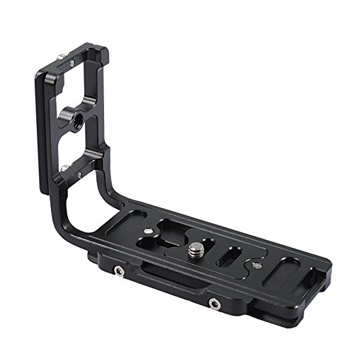 iShoot Universal L Bracket Unibody Vertical Shoot Quick Release Plate Camera Holder Grip for Canon Nikon Sony Minolta Pentax Olympus (Grip Battery Pentax K10d)