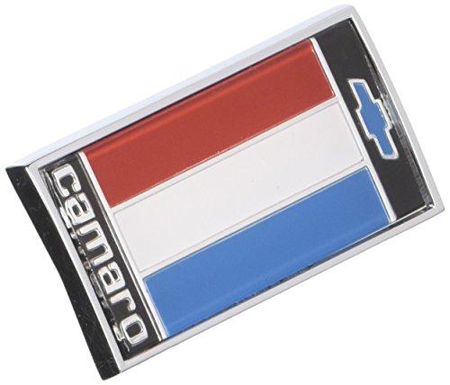 Emblem Panel Header (Trim Parts 6843 Front Header Panel Emblem (1975-1977 Camaro Red White Blue))