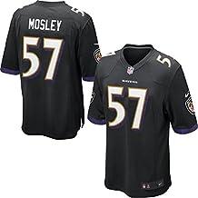 Mens Baltimore Ravens C.J. Mosley Nike Game Jersey (Black, Medium)