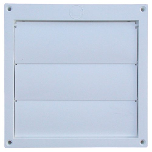 Speedi-Products EX-HLFW 06 6-Inch Diameter Louvered Plastic Flush Hood, White No Tailpipe ()