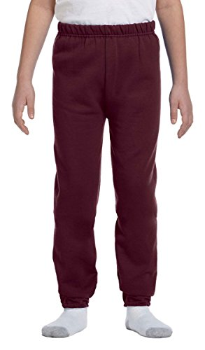 Jerzees Nublend Youth Sweatpants (True Red) (S) -
