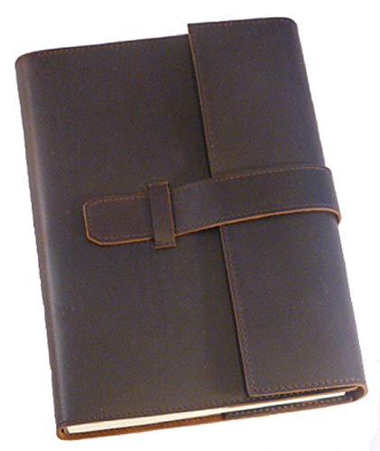 (Refillable Genuine Leather Journal Notebook Exquisite Classic Design for Men and Women 240 Unlined Pages. 8.5x6x1 in.)