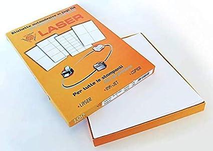 600 Etichette adesive in fogli A4 Dimensione 210x48 mm 100 fogli