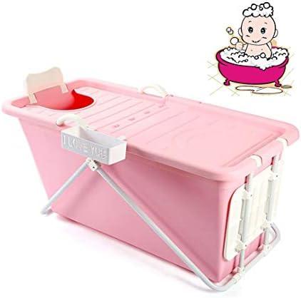 折りたたみバスタブ GYF 折りたたみバスタブ大人 バスタブ ベビープール バスタブエアーバス ポータブル折りたたみバスタブカバーバスタブ幼児 (Color : Pink)