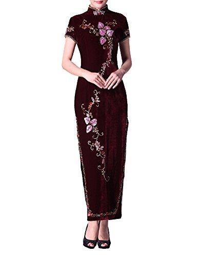 Terciopelo Qipao Noche Vestidos Cheongsam Personalizados Trajes 104 Novia De qw4CgxnPE