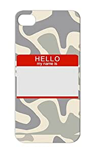 Hello My Name Is Dustproof Black Symbols Shapes Sticker My Name Tag Hello Id Is ID Tag For Iphone 5s Cover Case