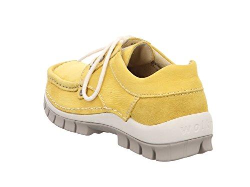 Chaussures à Pour Wolky Lacets Ville de Marron Yellow Femme Yellow 7wqndfgn