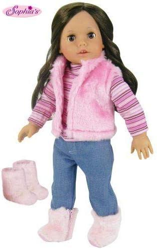 "Skirt Pink Knit Yellow T-Shirt Flip Flop Sophia/'s Fits 18/"" American Girl Dolls"