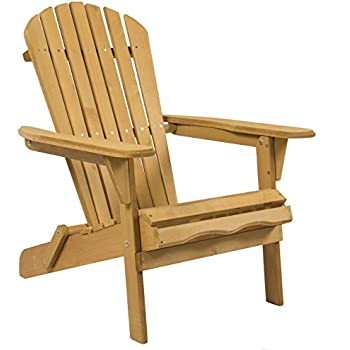This Item Best Choice Products SKY2253 Outdoor Patio Lawn Deck Foldable  Adirondack Wood Chair