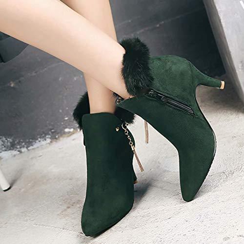 AIYOUMEI Women's AIYOUMEI Green Boot Classic Women's 6gfxYw