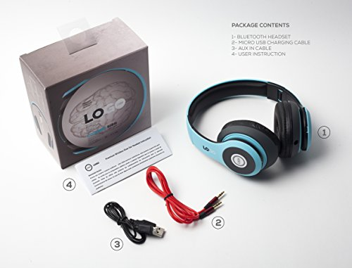 iJoy Matte Rechargeable Wireless Bluetooth Foldable Over Ear Headphones with Mic, Avatar by iJoy (Image #6)
