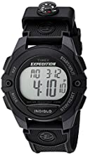 Timex Men's TW4B07700 Expedition Full-Size Digital CAT Black Resin Strap Watch