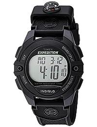 Timex Men's 'Expedition' Quartz Resin Automatic Watch, Color:Black (Model: TW4B077009J)