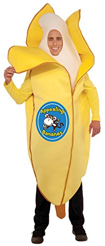 Forum Novelties Men's Appealing Banana Mascot Costume, Yellow, One Size (Funny Halloween Costume Pairs)