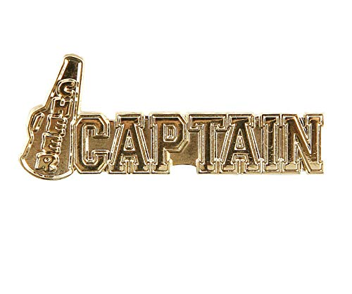 Pack of 5 Cheer Captain Lapel Pins (Gold)
