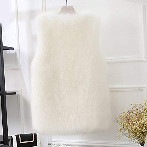 Manteau sans Fourrure Fashion El Femme Manches De Fourrure De Gilet Warm Hiver I76qH7r