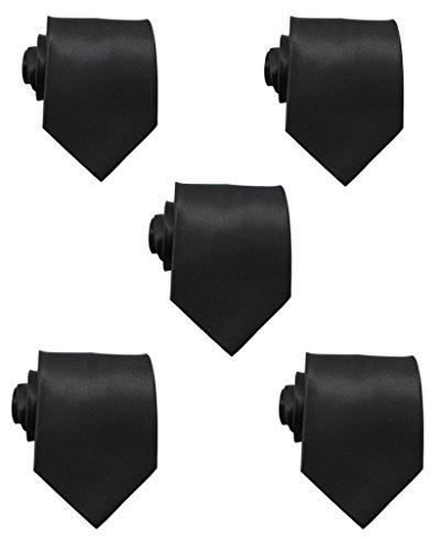 mens black ties pack - 4