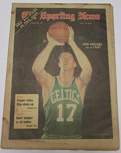 John Havlicek Boston Celtics March 20, 1971 Sporting News Cover 144685