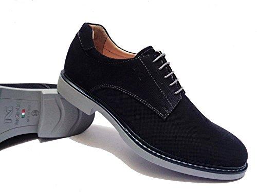 Nero Giardini 182 Chaussures Homme En Daim Bleu, Num. 43