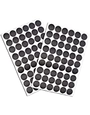 108 stuks schroefgat Covers Stickers, zwarte zelfklevende schroef gat stickers, stofdichte PVC Cover Caps Stickers voor houten meubels accessoires (21mm Dia 54pcs in 1Sheet)